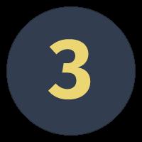 Tallet 3 i cirkel